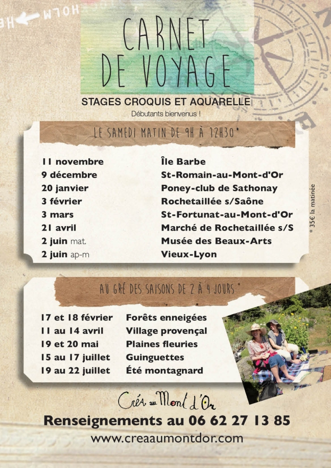 affiche stages A5