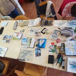 croquis aquarelle, carnet de voyage, île du Frioul