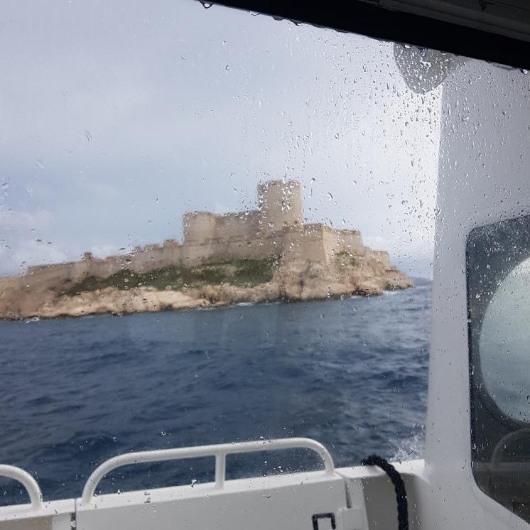 croquis aquarelle, carnet de voyage, île du château d'If