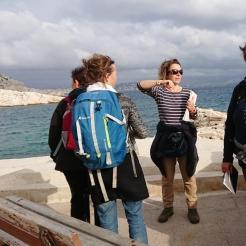 croquis aquarelle, carnet de voyage île du Frioul, Parc des Calanques de Marseille