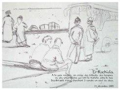 carnet de voyage au maroc croquis encre et stylo Bic