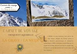stage carnet de voyage et croquis montagne à la Meije La Grave