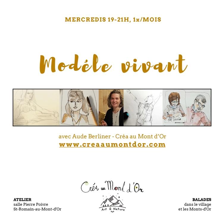modèle vivant dessin sensibilité croquis Lyon Aude Berliner créa au mont d'or atelier